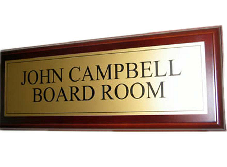 Board room door sign