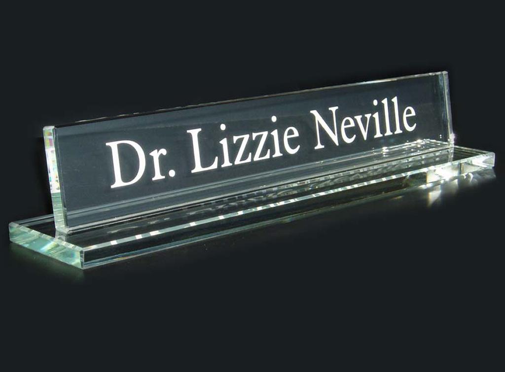 Glass deskplate