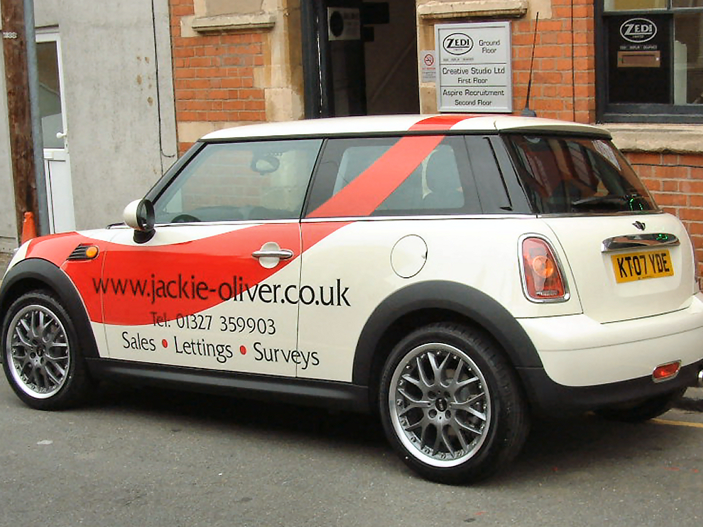 Jackie Oliver mini vehicle graphics