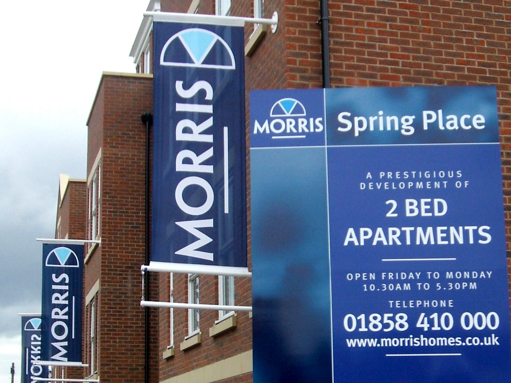 Morris Homes banners
