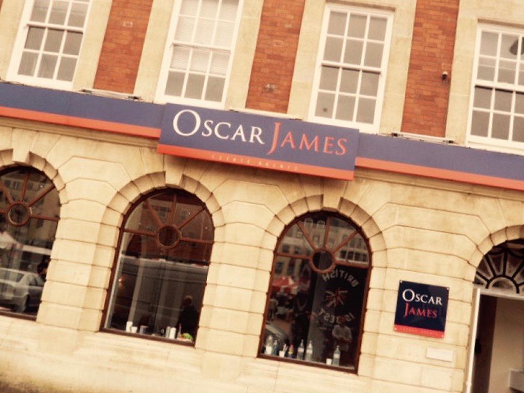 Oscar James external signage