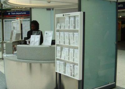 Station booth & leaflet dispenser
