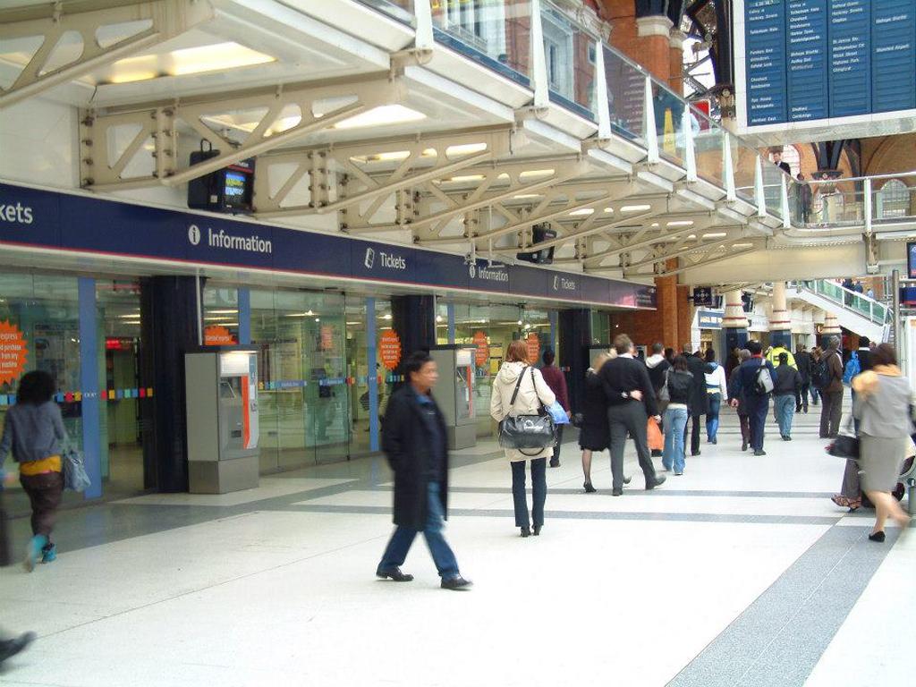 Station signage