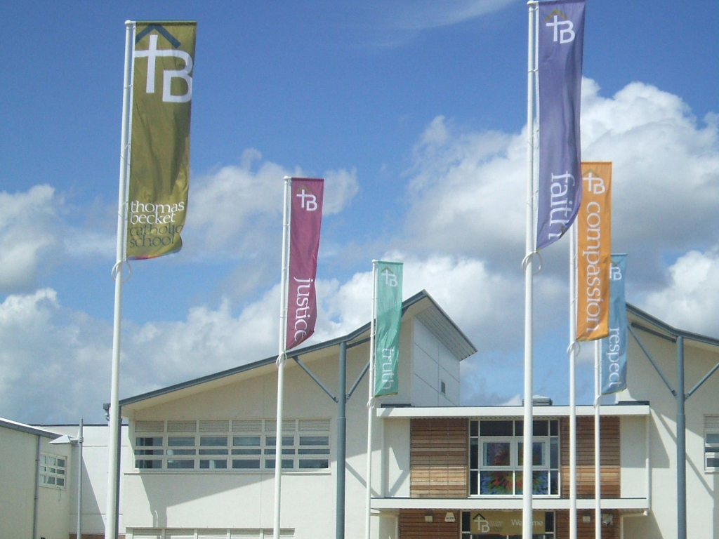 Thomas Becket school banners
