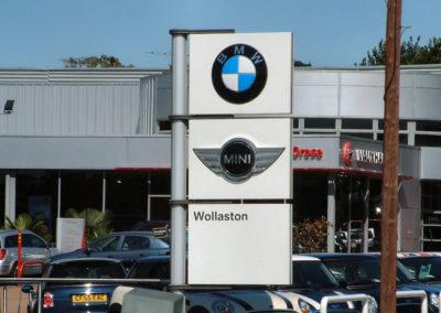 Wollaston Motors exterior sign